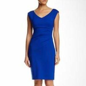 Like NEW DVF Bevin Sheath Dress SZ 0 Vibrant Blue